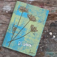 Nature Inspired Writing Journal to Tuck in Your Pocket or Purse, Bloom | walkinthewoodsllc - Paper/Books on ArtFire