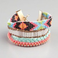 FULL TILT 4 Row Friendship Bar Bracelet