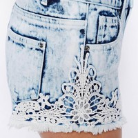 New Look | New Look Crochet Acid Short at ASOS