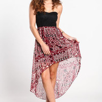 Tribal and Lace High Low Dress - LoveCulture