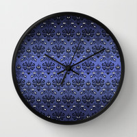 Halloween Haunted mansion Ghost Pattern Decorative Circle Wall Clock Watch by Three Second