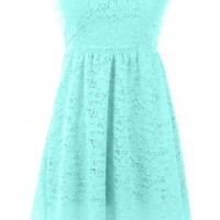 Lace Bow Back Dress