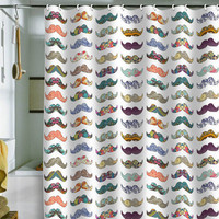 DENY Designs Home Accessories | Bianca Green Mustache Mania Shower Curtain