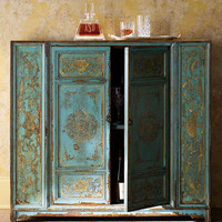 Hand-Painted Wood Cabinet - Horchow
