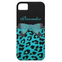 Monogram, Turquoise, Cheetah Skin iPhone 5 Cases