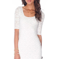 Tara Lace Dress in White Silver :: tobi