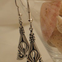 Beautiful Ornate Antique Silver Earrings | asterling - Jewelry on ArtFire