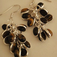 Picture Jasper Gems Earring | asterling - Jewelry on ArtFire