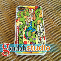 TMNT ninja turtle say yes to pizza - iPhone 4/4s/5/5c/5s Case - Samsung Galaxy S2/S3/S4 - Blackberry z10 - iPod 4/5 Case - Black or White