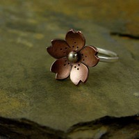 Cherry Blossom Ring by Hapagirls on Etsy