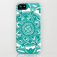 Turquoise Medallion iPhone & iPod Case by Brenna Whitton