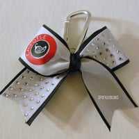 Chipotle Rhinestone Key Chain Cheer Bow Cheerleading