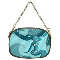 Blue Mermaid Chain Purse (One Side)