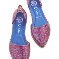 Jeffrey Campbell Confetti on the Dance Floor Flat in Pink | Mod Retro Vintage Flats | ModCloth.com
