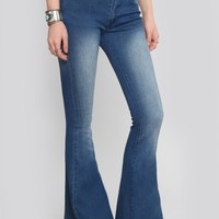 PORTLAND BELL BOTTOM JEANS - VINTAGE WASH