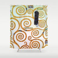 Gustav Klimt Tree of Life  Shower Curtain by BeautifulHomes