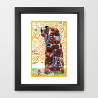 Love & Fulfillment - Gustav Klimt Framed Art Print by BeautifulHomes