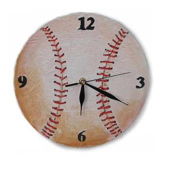 Unique Baseball Wall Clock Wooden Clock From Pilipart