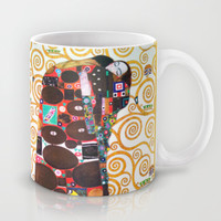 Love & Fulfillment - Gustav Klimt Mug by BeautifulHomes