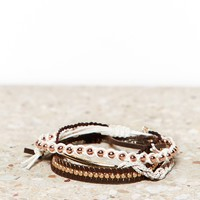 AEO EMBELLISHED BLACK & WHITE BRACELET TRIO