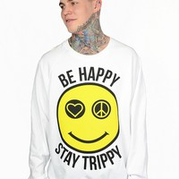 Be Happy Stay Trippy Crewneck - Mens - Outerwear - Men - Paper Alligator