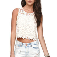 LA Hearts Daisy Crochet Tank at PacSun.com