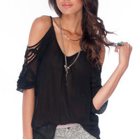 Threaded Keyhole Top in Black :: tobi