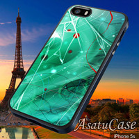 Green Painting Mirror - Samsung Galaxy S2/S3/S4,iPhone 4/4S,iPhone 5/5S,iPhone 5C,Rubber Case,Cell Phone,Case,Accessories - 241013/CA5