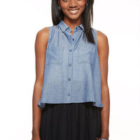 Chambray Tulip Back Shirt
