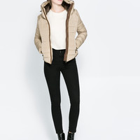 COMBINATION FUR PUFFER JACKET