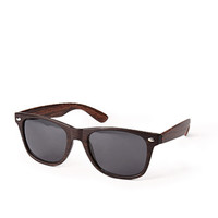 F1450 Wood Grain Wayfarer Sunglasses