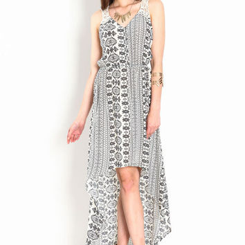 HIGH LOW MEDITERRANEAN DRESS