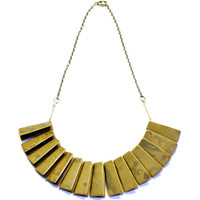 wave necklace - bronze