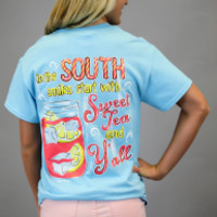 Simply Southern Tee - Sweet Tea + Y'all