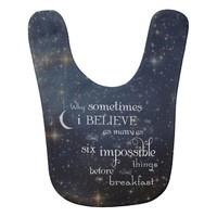 Impossible Things Stars Baby Bib