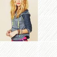 Free People Neon Details Hoodie at Free People Clothing Boutique