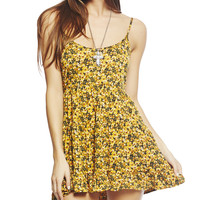 Sunflower Babydoll Dress | Wet Seal