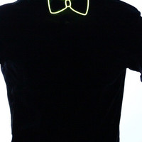 Light Up Bow Tie- Yellow - Electric Styles
