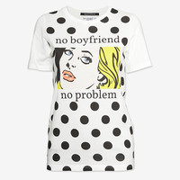 EDWARD EDWARD EXCLUSIVE POLKA DOT TEE