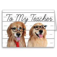 Golden Retriever Teacher Appreciation Thank You