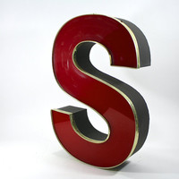 VintageSalvaged Letter S / Letter S / Industrial
