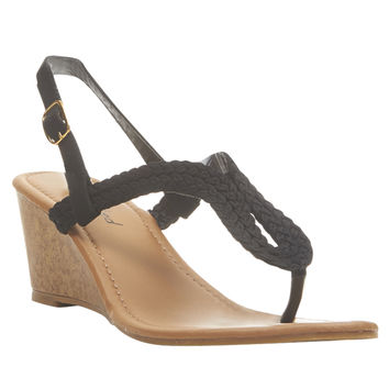 Double Braided Demi Wedges | Wet Seal