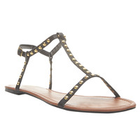 Studded Cross Strap Sandals | Wet Seal