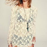 Free People Infinite Arms Lace Tunic