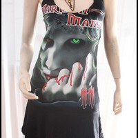 Marilyn Manson DIY Halter Dress Top Shirt M by supapun on Etsy