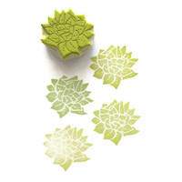 Succulent Plant Rubber Stamp - Cling Rubber Stamp