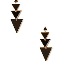 Triangle Lacquered Earrings
