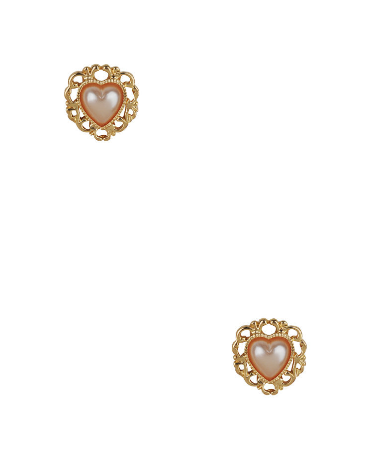 Filigree Heart Studs | FOREVER21 - 1011393173