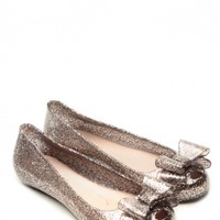 Glaze Pewter Delilah Bow Glitter Jelly Flats @ Cicihot Flats Shoes online store:Women's Casual Flats,Sexy Flats,Black Flats,White Flats,Women's Casual Shoes,Summer Shoes,Discount Flats,Cheap Flats,Spring Shoes