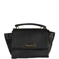 Foldover Mini Compact Handbag - Black